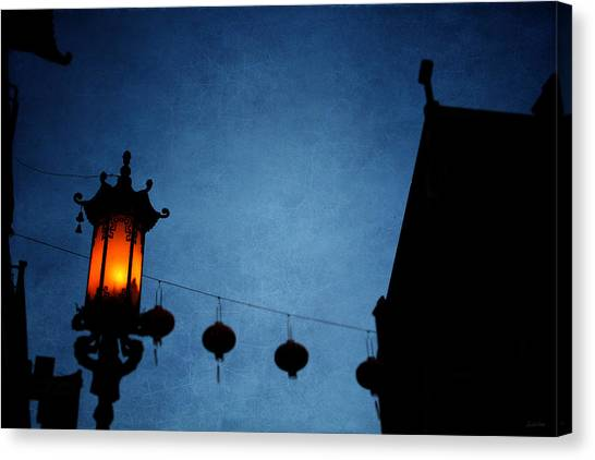 Night Lights Canvas Print - Lanterns- Art By Linda Woods by Linda Woods
