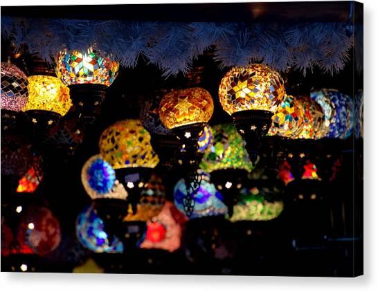Lanterns - Night Light Canvas Print