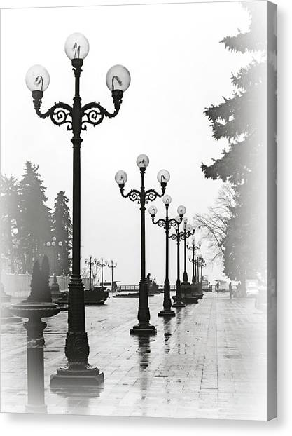 Lanterns Of Mariyinskyi Park. Kyiv, 2015. Canvas Print