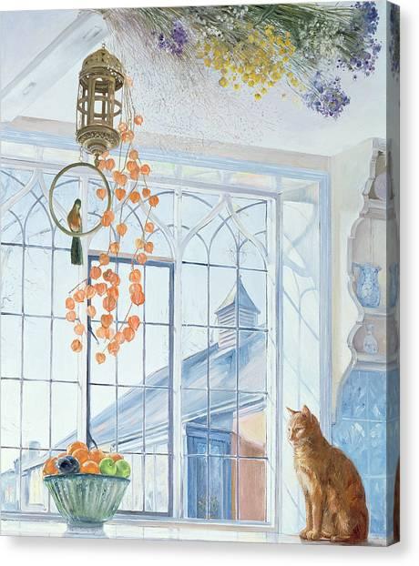Parakeets Canvas Print - Lanterns by Timothy Easton