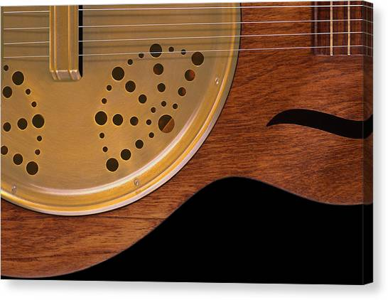 Acoustic Guitars Canvas Print - Lap Guitar I by Mike McGlothlen
