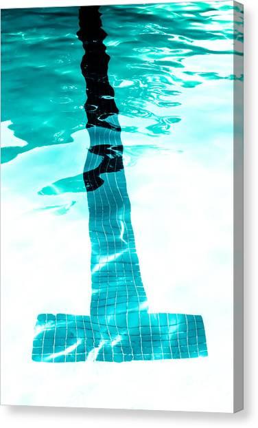 Lap Lane - Swim Canvas Print