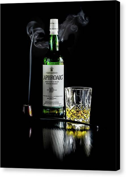Whiskey And Smoke Canvas Print