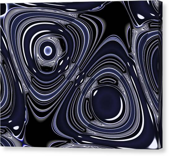 Lapis And Chrome Abstract Canvas Print