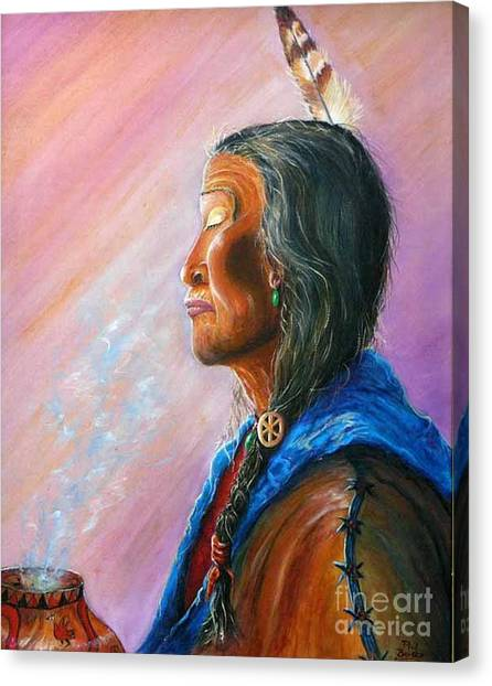 Lapu Cedar Bark Canvas Print