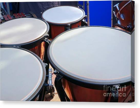 Large Copper Kettledrums Canvas Print