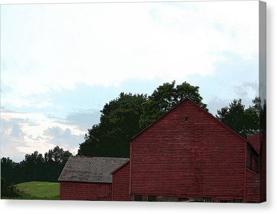 Large Red Barn Canvas Print