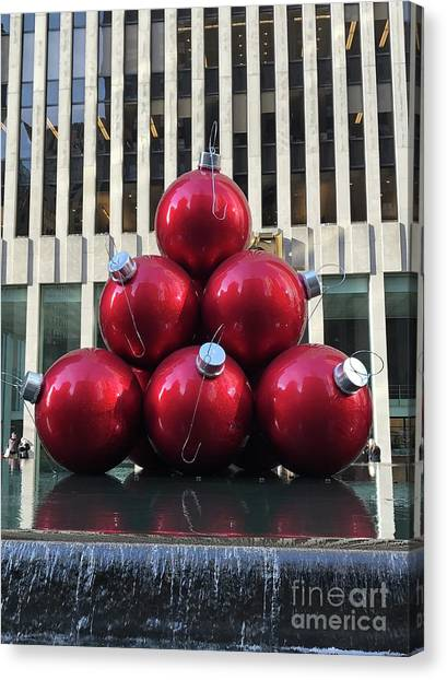 Large Red Ornaments Canvas Print