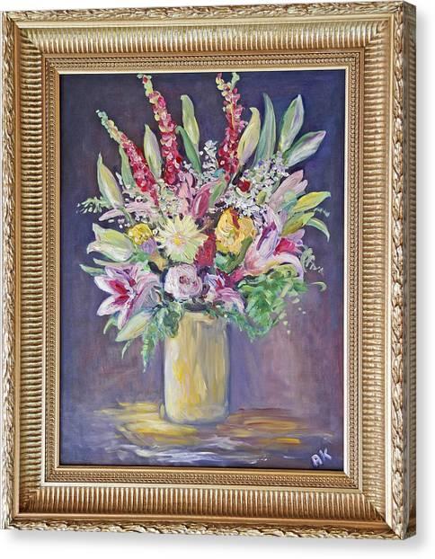 Larkspur Floral Canvas Print