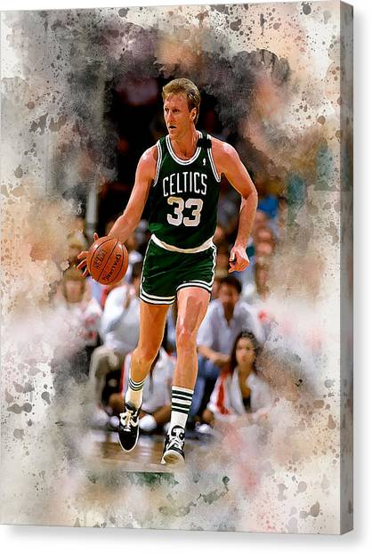 Larry Bird Canvas Print - Larry Bird by Karl Knox Images