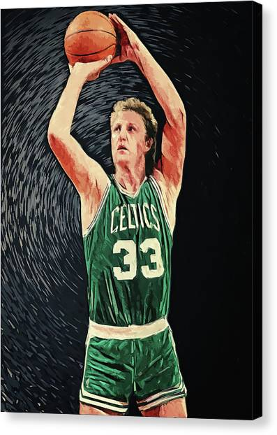 Indiana Pacers Canvas Print - Larry Bird by Zapista