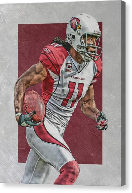 Arizona Cardinals Canvas Print - Larry Fitzgerald Arizona Cardinals Art by Joe Hamilton