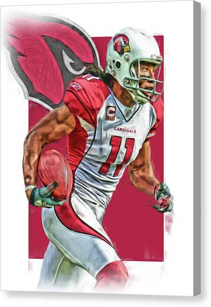 Arizona Cardinals Canvas Print - Larry Fitzgerald Arizona Cardinals Oil Art 2 by Joe Hamilton