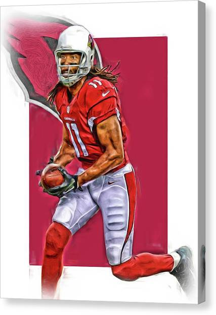 Arizona Cardinals Canvas Print - Larry Fitzgerald Arizona Cardinals Oil Art by Joe Hamilton