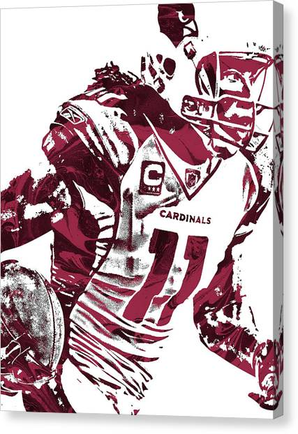 Arizona Cardinals Canvas Print - Larry Fitzgerald Arizona Cardinals Pixel Art 1 by Joe Hamilton