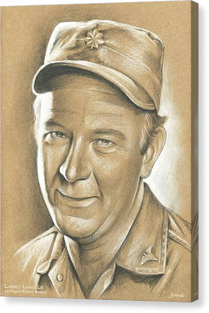 M.a Canvas Print - Larry Linville by Greg Joens