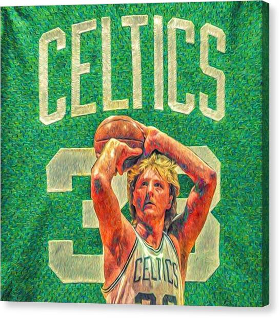 Basketball Canvas Print - Larry The Legend. Worlds Best Ever & by David Haskett II