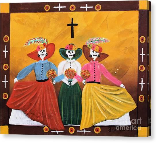 Las Catrinas Canvas Print