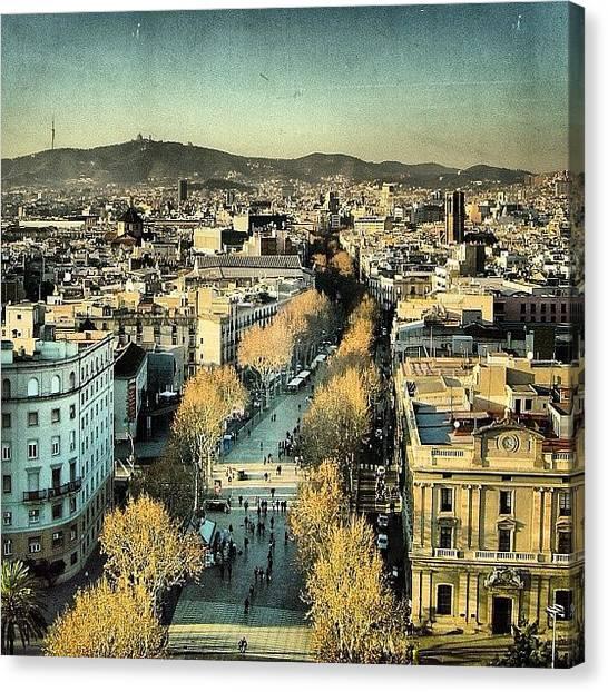 Love Canvas Print - Las Ramblas - Barcelona by Joel Lopez