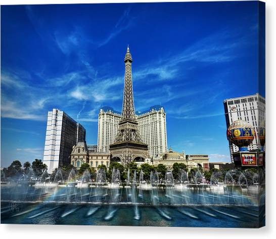 Canvas Print featuring the photograph Las Vegas 016 by Lance Vaughn