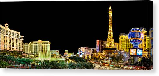 Traffic Canvas Print - Las Vegas At Night by Az Jackson