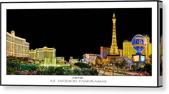 Nevada Canvas Print - Las Vegas At Night Poster Print by Az Jackson