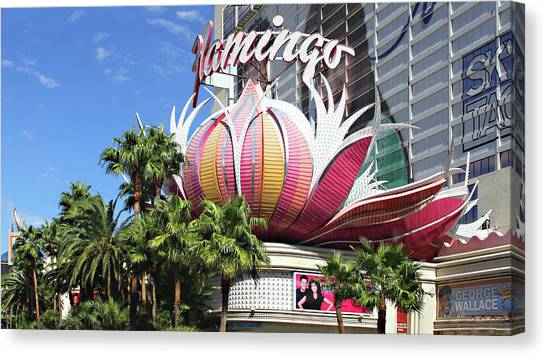Las Vegas Flamingo Hotel Lotus Blossom Canvas Print