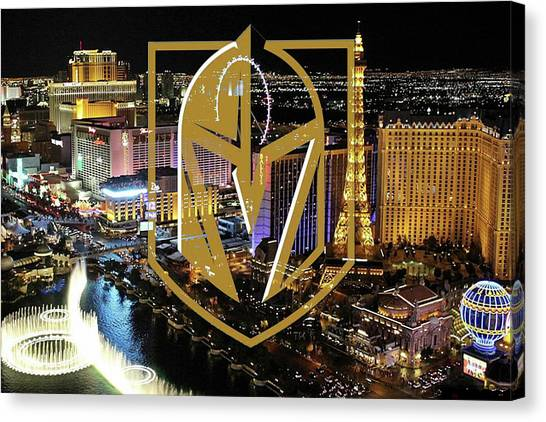 Vegas Golden Knights Canvas Print - Las Vegas Golden Knights by Thomas Pollart