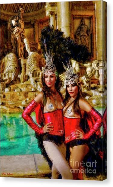 Las Vegas Showgirls Canvas Print