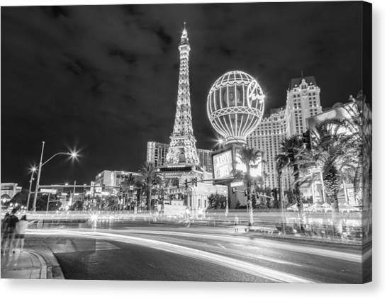 Paris las vegas canvas print las vegas streaks by john mcgraw