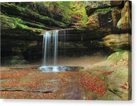 Waterfalls Canvas Print - Lasalle Canyon Waterfall 3 by Greg Matchick