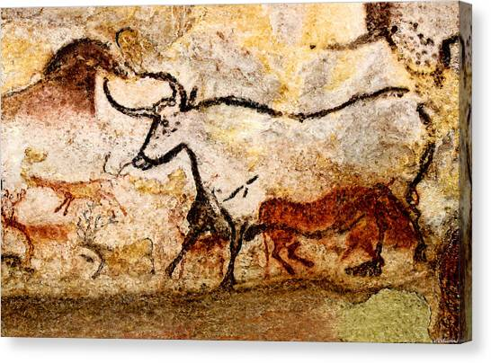 Lascaux Hall Of The Bulls - Aurochs Canvas Print