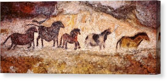 Lascaux Horses Canvas Print