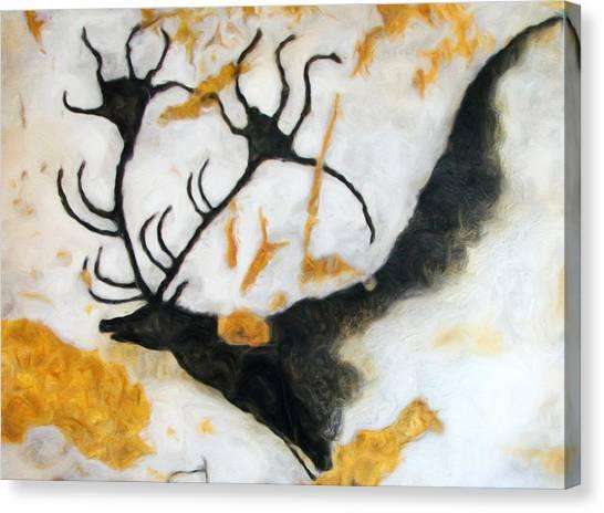 Lascaux Megaceros Deer 2 Canvas Print