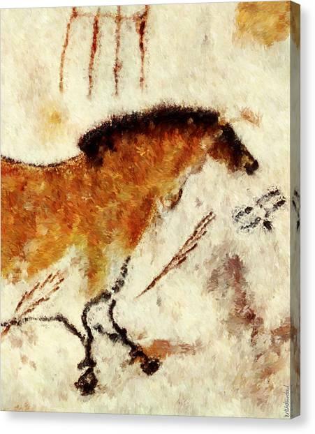 Lascaux Prehistoric Horse Detail Canvas Print
