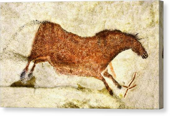 Lascaux Red Horse Canvas Print