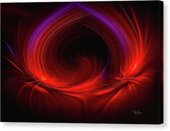 Laser Light In Red Canvas Print