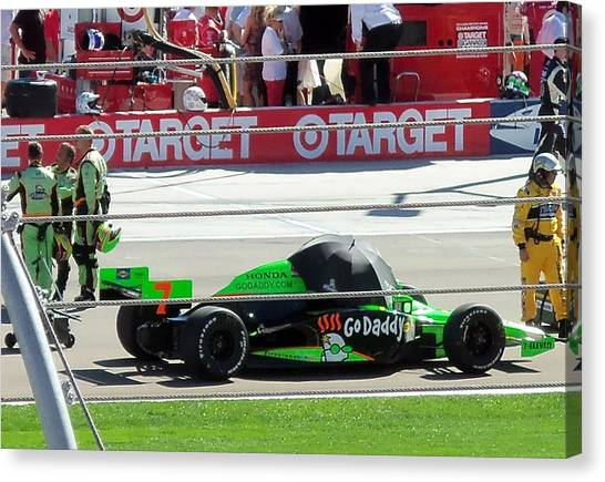 Danica Patrick Canvas Print - Last Indy Race by Trenton Heckman