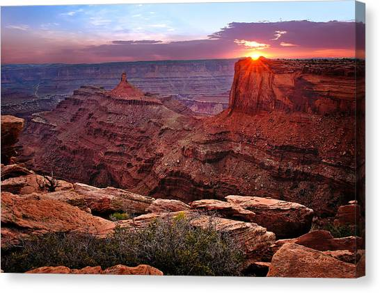 Last Light At Dead Horse Point Canvas Print