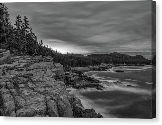 Last Light At Otter Cliff Canvas Print