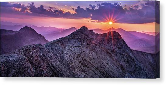 Last Light At The Summit Canvas Print