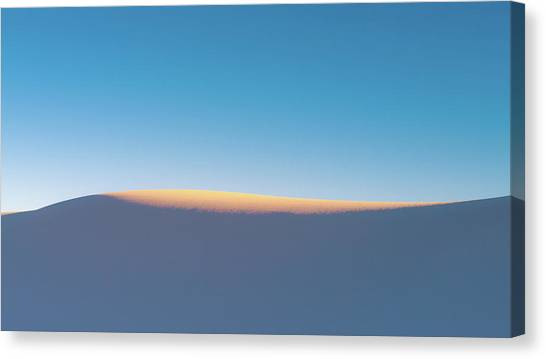 White Sand Canvas Print - Last Light by Joseph Smith