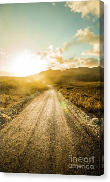 Dirt Road Canvas Print - Last Light Lane by Jorgo Photography - Wall Art Gallery
