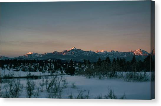 Canvas Print featuring the photograph Last Light On Pagosa Peak by Jason Coward