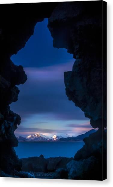 Last Light Through Lava Canvas Print