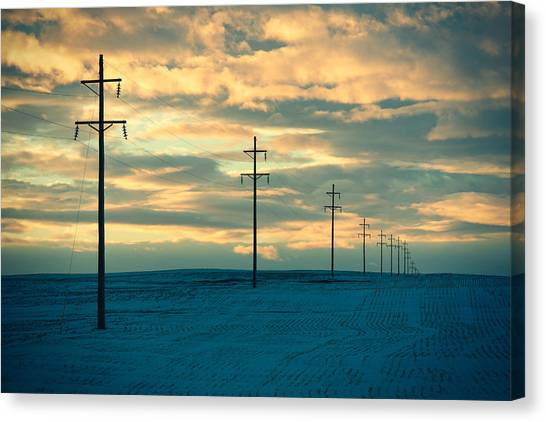 Sunrise Horizon Canvas Print - Last Light by Todd Klassy