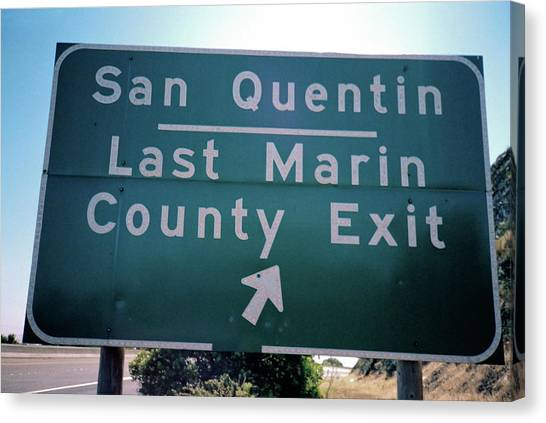 Last Marin County Exit Canvas Print