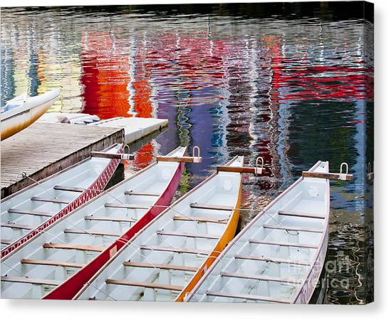 Last Of The Dragon Boats Canvas Print