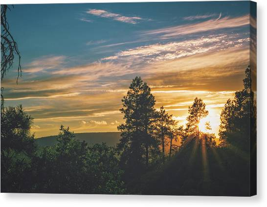 Canvas Print featuring the photograph Last Rays Of Sunday by Jason Coward
