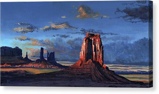 Rays Open Canvas Print - Last Rays Of The Day by Timithy L Gordon